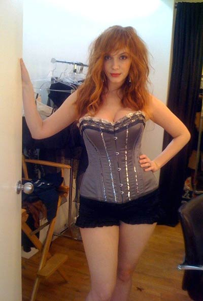 Christina-Hendricks - Are your intimates photos safe? Lingerie Briefs