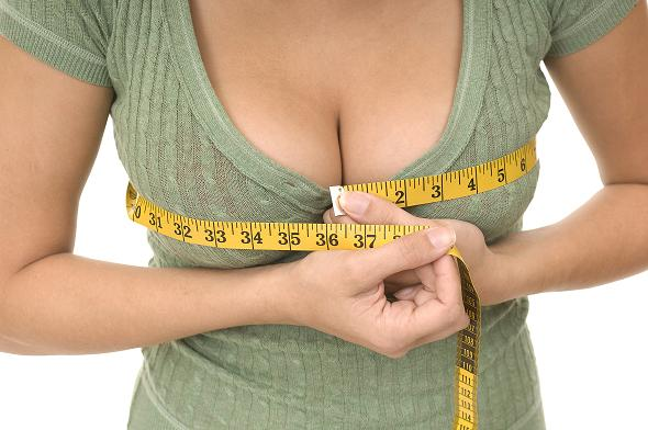 How does breast size or bra size relate to cancer