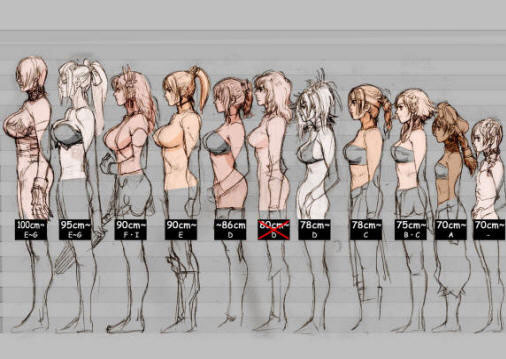 Breast size differences on Lingerie Briefs