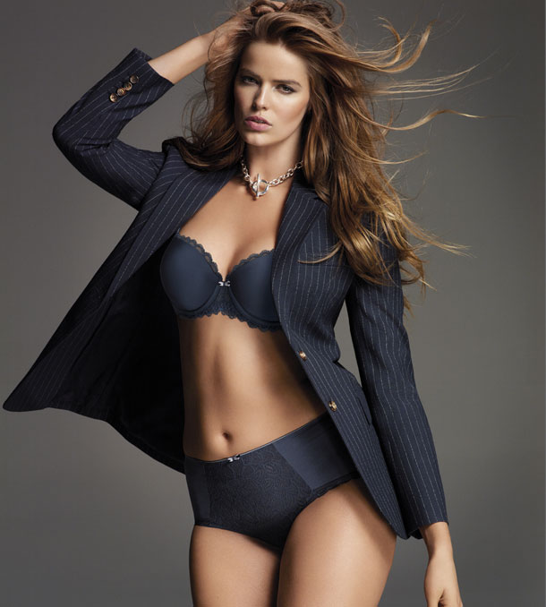 Merci Blue by Chantelle Paris. Unlike basic black, the Metallic blue bra and panty is both bold and fresh.