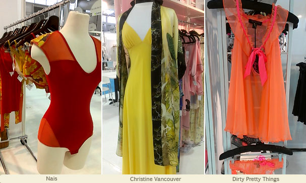 CurveNY finds ~ vibrant colorful lingerie from Nais, Christine Vancouver and Dirty Pretty Things