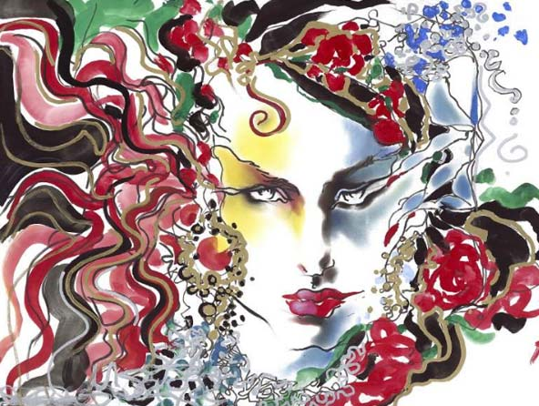 Tony Viramontes fashion illustration