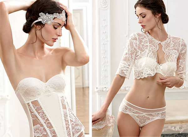 Lise Charmel Bridal corsets and bras and panties on Lingerie Briefs