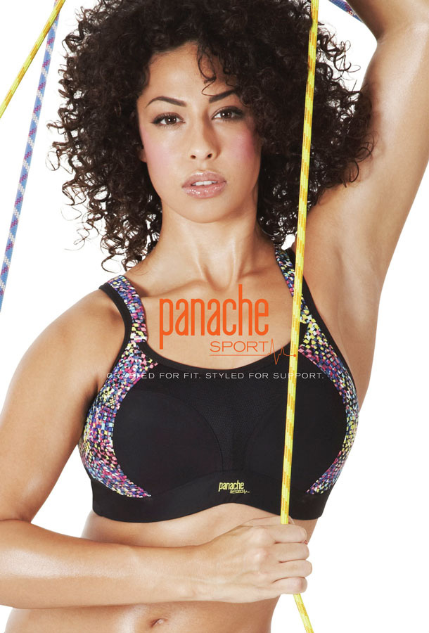 e66c93d04d7a3 Panache Sports Non-wired Bra is ideal for lower impact activities offering  firm support without wires. In a bright and beautiful geometric print  combined ...