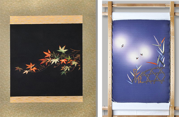 Autumn-Leaves-&-Falling-Star-embroidery-by-Cecilia-Roger-on-Lingerie-Briefs