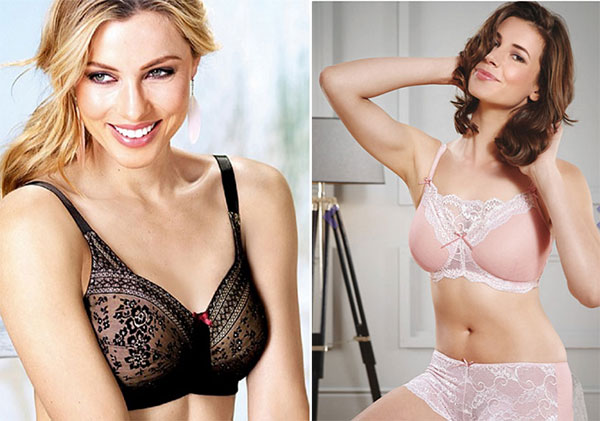 Anita-Fleur-Lace-Elegance-and-Royce-Rosy-Mastectomy-Bras-on-Lingerie-Briefs