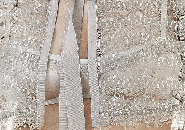 Detail of The Giving Bride Lingerie on Lingerie Briefs