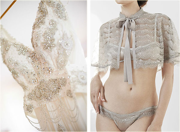 The Giving Bride Lingerie and vintage wedding gown on Lingerie briefs