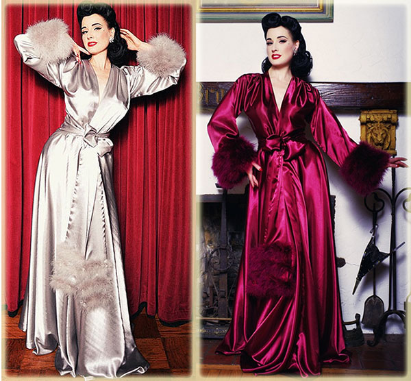 Wrapped in Glamour – Dressing Gowns   Feather-Trimmed Robes ... d0b4704cb