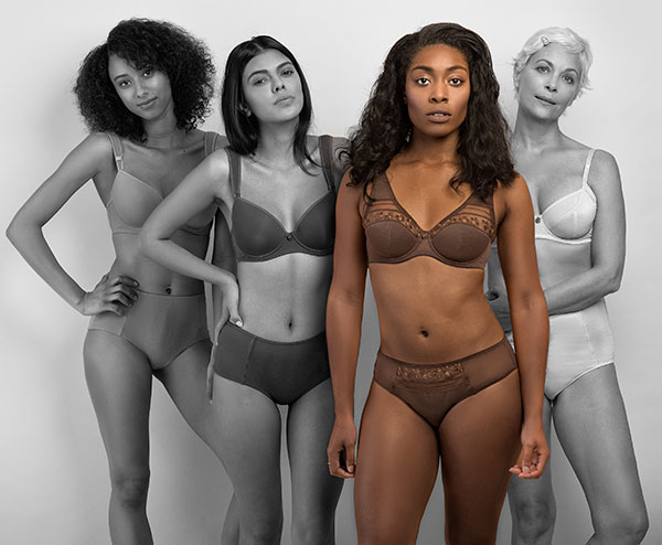beingU lingerie for women of color on Lingerie Briefs