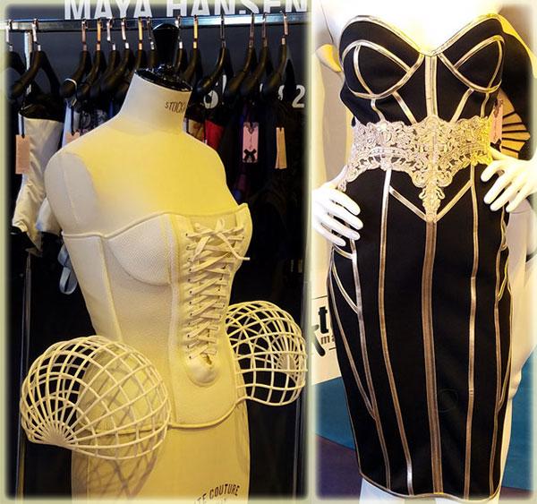 Maya Hansen on lingerie Briefs