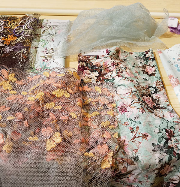 Pictures of Interfiliere 2018 fabric trends on Lingerie Briefs