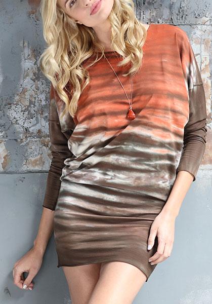 Rock Cotton tie dye t-shirt dress on Lingerie Briefs