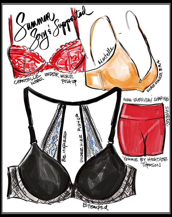 Tina Wilson Fashion Illustrations on Lingerie Briefs