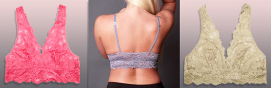"""6aafe3c04a7 """"I received an Undie Couture Classic Lace Bralette in ivory in medium. This lace  bra is not scratchy at all and ..."""
