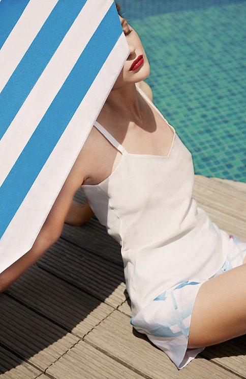 Rose Fulbright Silk Loungewear and Beachwear on Lingerie Briefs