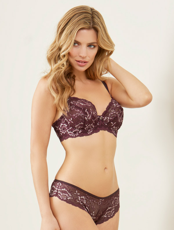 Montelle Divine bra in Fig on Lingerie Briefs