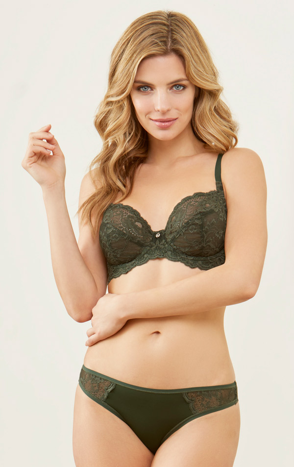 Montelle Divine Bra in Forest Night on Lingerie Briefs