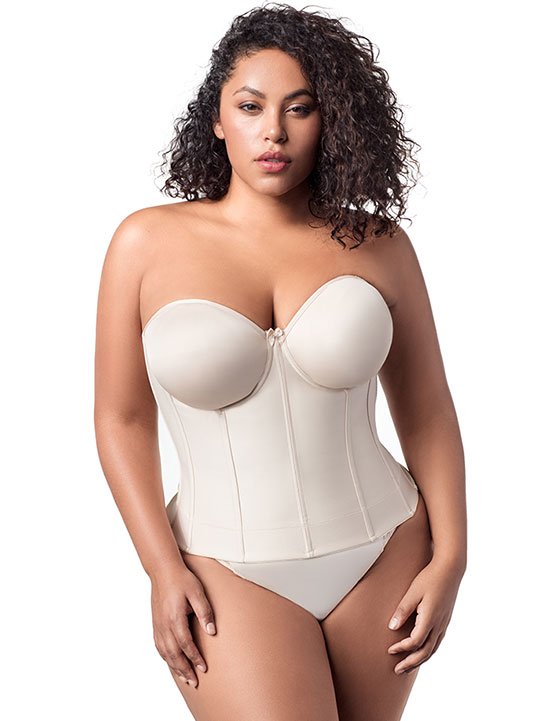 Elila smooth long line strapless bra to an I cup on Lingerie Briefs