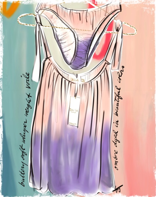 Salua illustrated by Tina Wilson on Lingerie Briefs