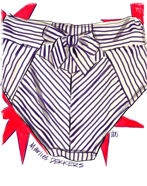 Marlies Dekkers illustrated by Tina Wilson on Lingerie Briefs
