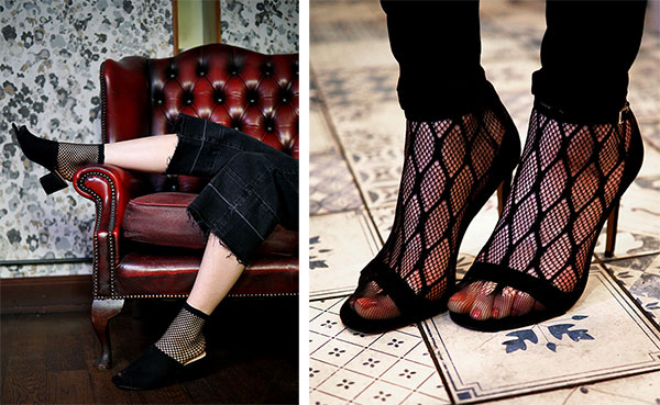 Diamond fishnet anklets from Pretty Polly on Lingerie Briefs