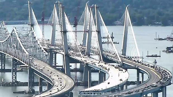 The new Tappan Zee Bridge in New York on Lingerie Briefs
