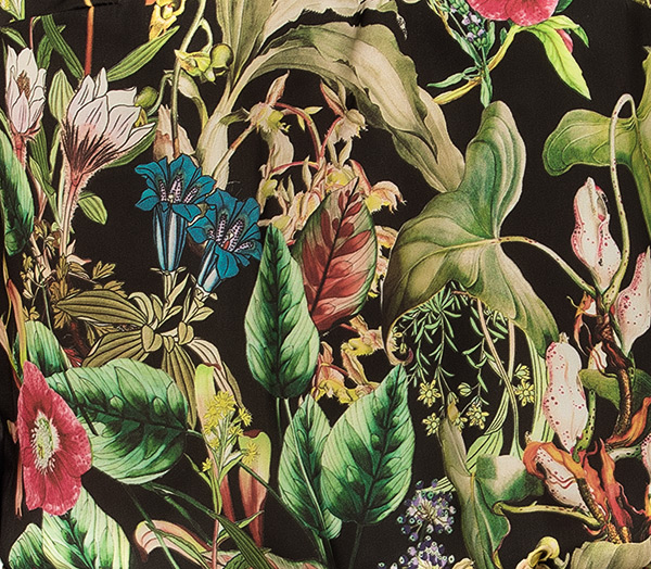 Fleurs de Jungle silk print by Lise Charmel on Lingerie Briefs