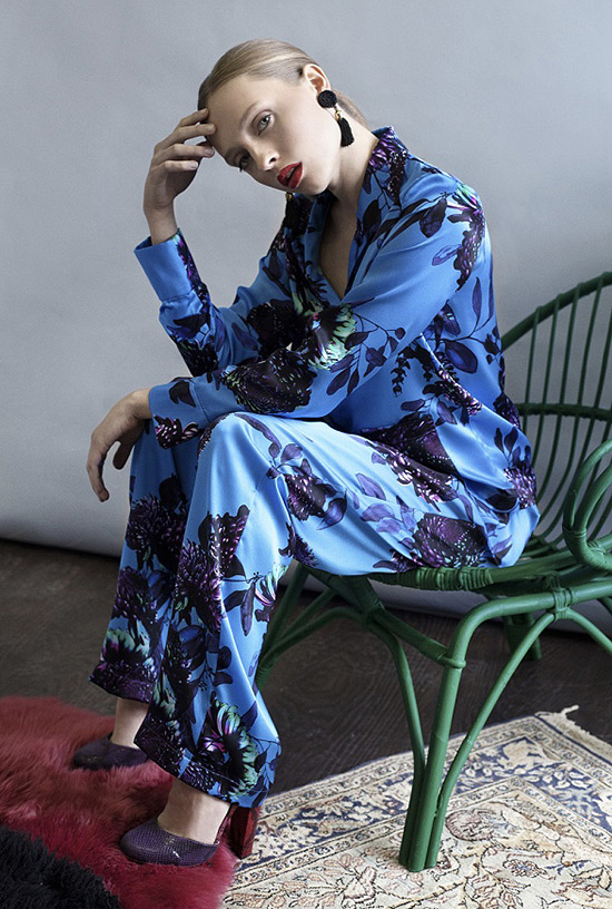 Violet & Wren silk print pajamas & robes on Lingerie Briefs
