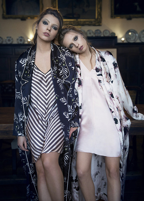 Violet & Wren silk print pajamas, slips & robes on Lingerie Briefs