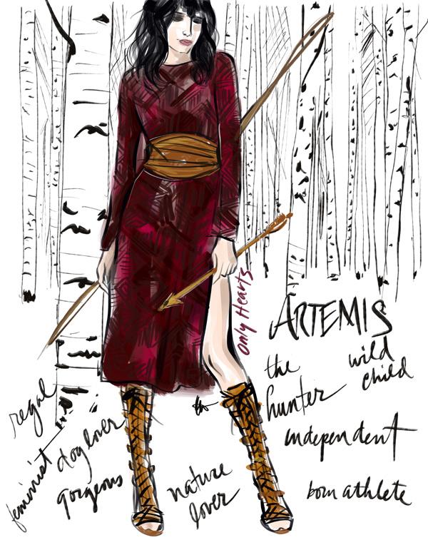 Artemis wears Only Hearts' velvet tunic