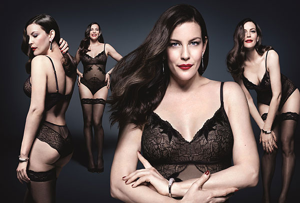 The Triumph Essence campaign featuring Liv Tyler and photographed by Rankin on Lingerie Briefs