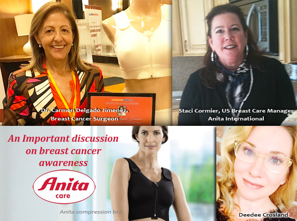 Discussion with Dr Jimenez, breast cancer surgeon and Staci Cormier of Anita International