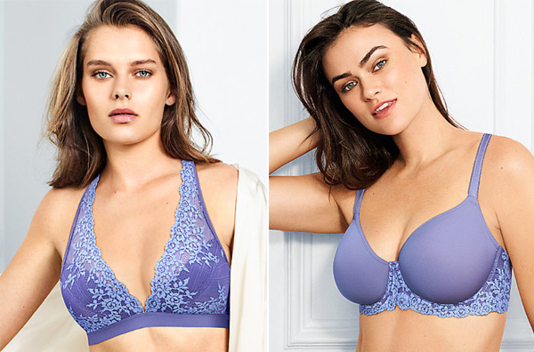 Embrace Lace Wire Free Bra and T-Shirt Bra in Twilight Purple