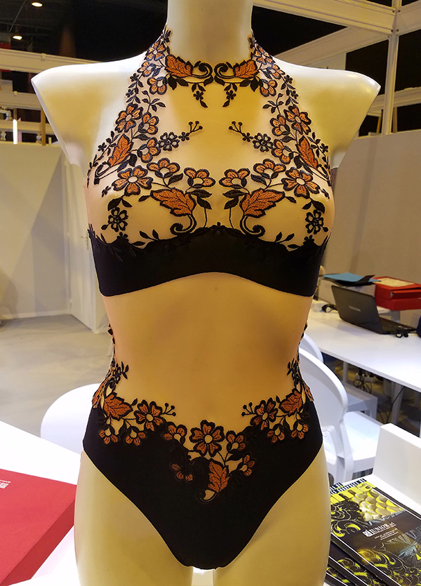 A. Zibetti embroidery on Lingerie Briefs