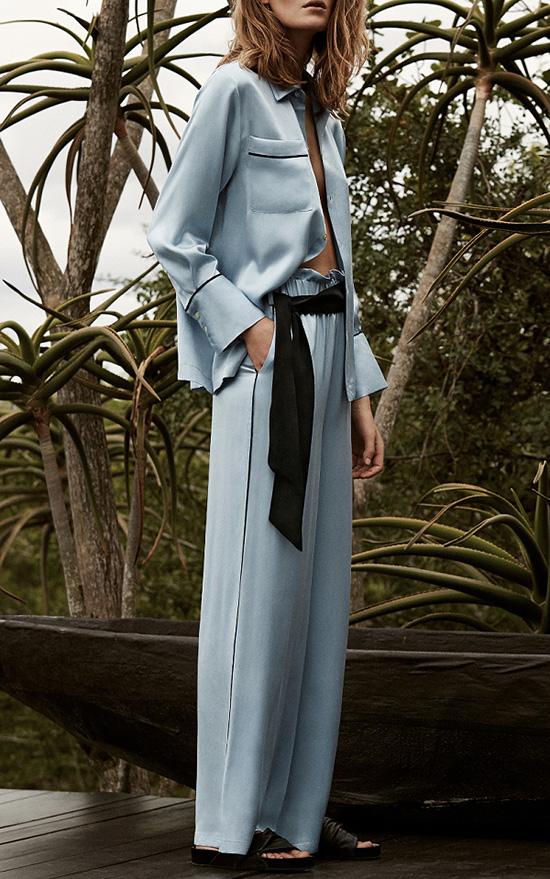 Asceno silk Pajamas on Lingerie Briefs