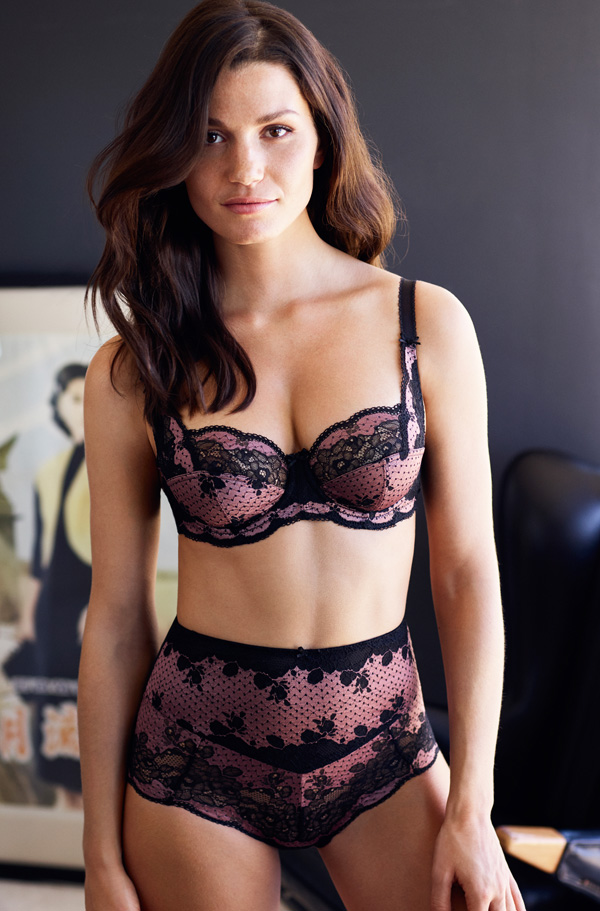 "Panache's ""Clara"" balconnet bra and Brazilian brief"