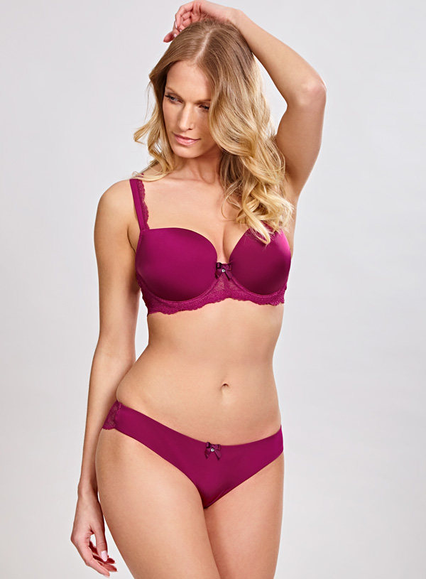 Panache Ardour Balconnet Bra and Brazilian in magenta SS18
