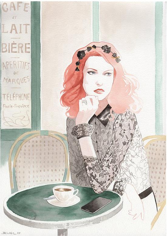 a33d04fbb7 illustration by Geoffrey Beloeil of Camile Roucher lingerie on Lingerie  Briefs