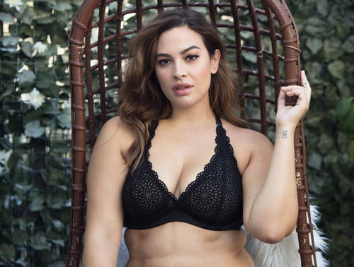 1004b957b7a Black Crochet Lace Halter Bralette in Black - Curvy Couture