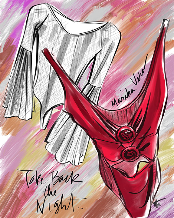 The Bodysuit from Marika Vera illustrated by Tina Wilson on Lingerie Briefs