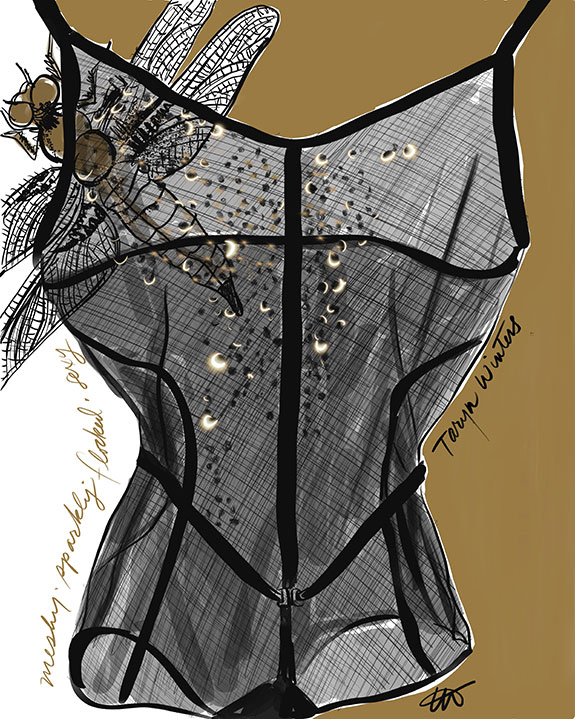 The Bodysuit from Taryn Winters illustrated by Tina Wilson on Lingerie Briefs