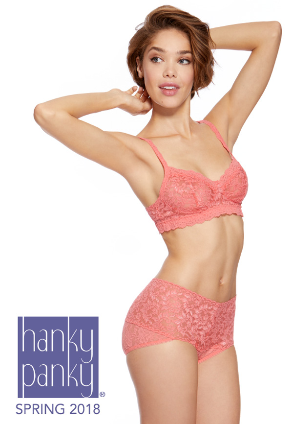 5c796c3b26220 Coming this spring... Hanky Panky s Signature Lace Pink Bralette and New  High Rise