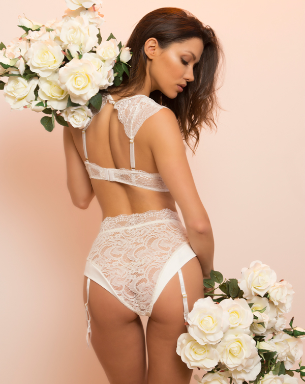 Kaviar Diane bridal lingerie - back view