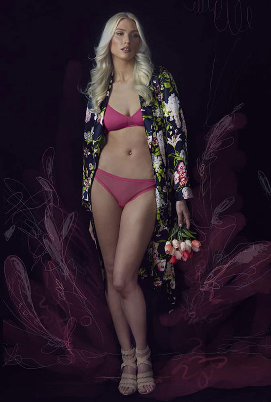 Stephanie Hynes Photography Fashion Lingerie on Lingerie Briefs: Paul Stuart Robe, On Gossamer lingerie