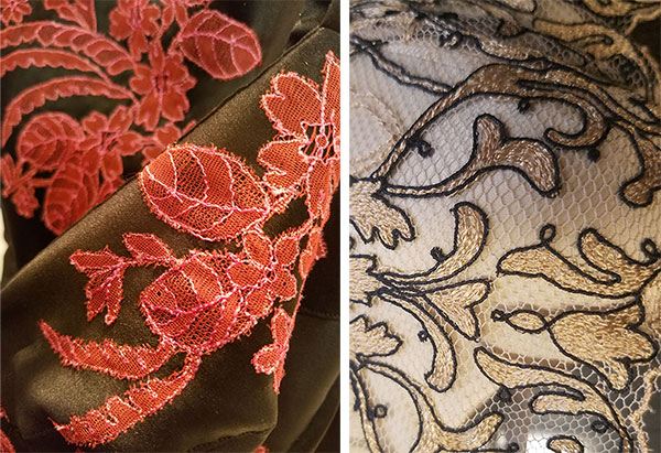 Millesia and Ritratti embroidery on Lingerie Briefs