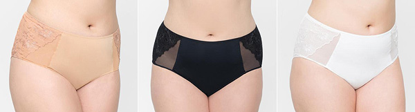 Curvy Couture Glistening Embroidery Panty 2018