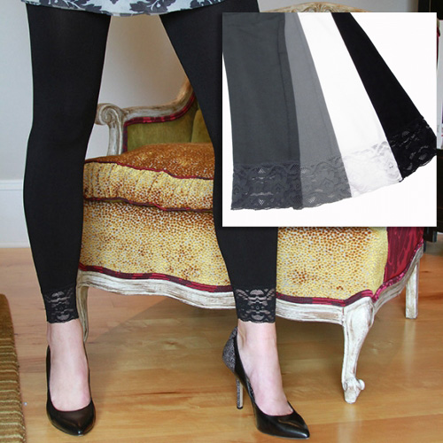 Coobie Seamless leggings with lace trim