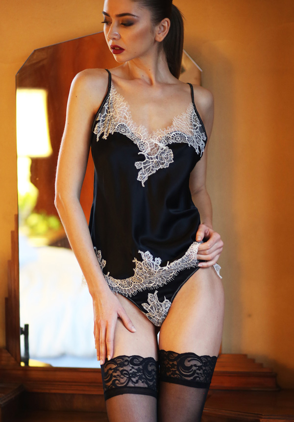 From the Helen Sánchez PORTIA Collection ~ Cami & Thong seen on Lingerie Briefs