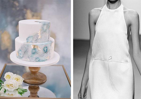Cake photo by Jillian Rose Photography, Minimalist wedding dress on Lingerie Briefs